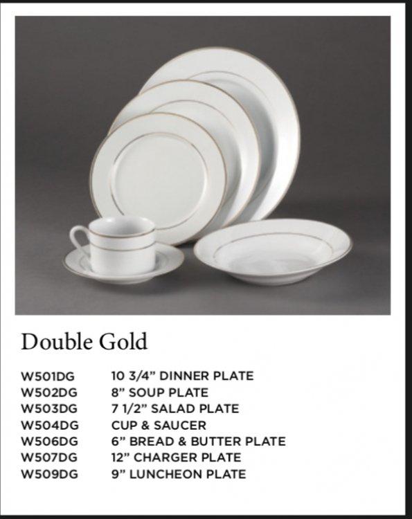 Double Gold Rim Plates