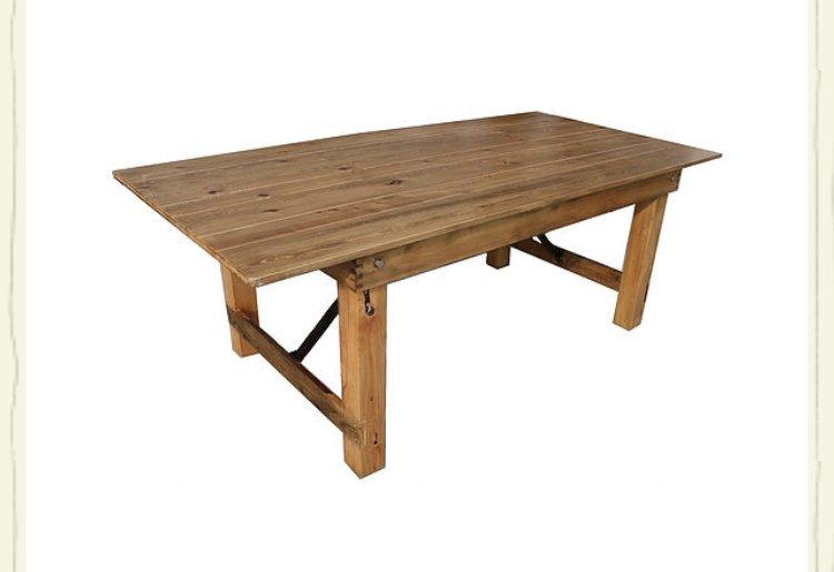 Light Natural Farm Table