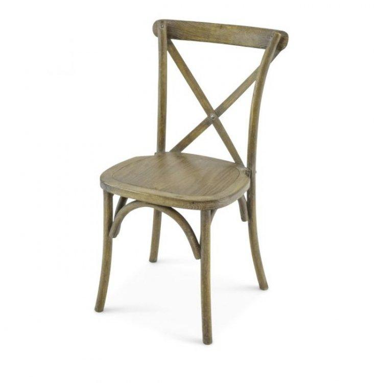 Cross Back Chair (Rustic)