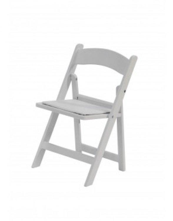 (Kids) White Resin Folding Chair
